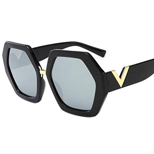 NJJX Gafas De Sol Cuadradas De Lujo Gafas De Moda Para Mujer Gafas De Sol Retro Clásicas Gafas Para Mujer Tonos Unisex Plata