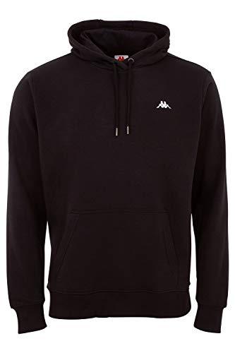 Kappa Hoodie VENNO I Unisex Kapuzen Sweatshirt I Pullover aus hochwertiger Baumwolle I Pulli für Freizeit & Sport I Kleidung für Frauen und Männer | Farbe Caviar, XXL