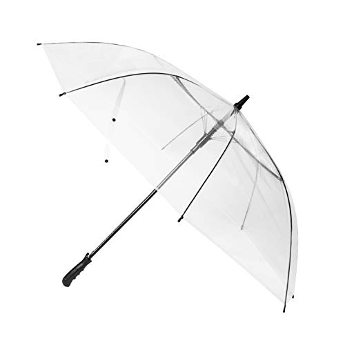 R.HORSE 60Inch Golf Umbrella Transparent Clear Golf Umbrellas Automatic Open Large Oversize Windproof Waterproof Stick Umbrellas for Men and Women