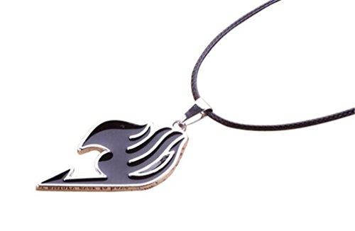 yuemin Fairy Tail Natsu Dragneel Guild Symbol Copper Metal Pendant Necklace (Black)