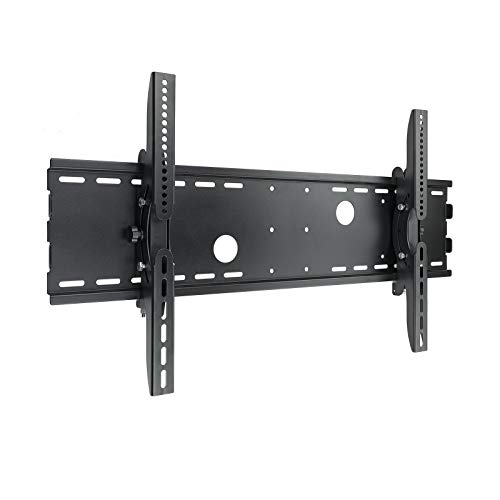 TooQ LP4970T-B - Soporte fijo inclinable de pared para monitor/TV/LED de 37' a 70', hasta 75kg de peso, distancia a la pared 83mm, inclinacion -15º, formato VESA hasta 800x400, color negro
