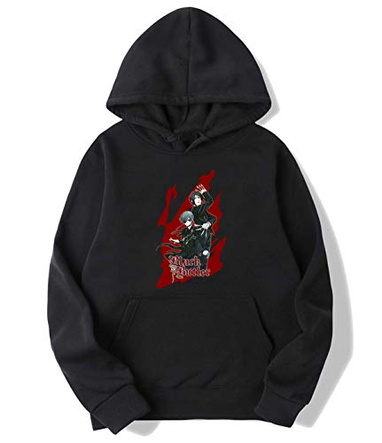 beidiyinger Black Butler Anime Hoodie Sweater for Mens Womens Youth Black Womens M
