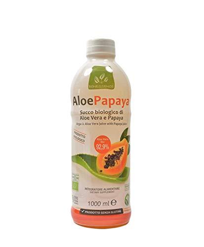 Benessence - Jugo orgánico de Aloe Vera y Papaya - 1000ml