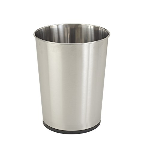 Bath Bliss Trash Can-5-Liter Wastebasket Perfect for Bathroom, Bedroom, Office, Small Space Living 11 Inches Stainless Steel