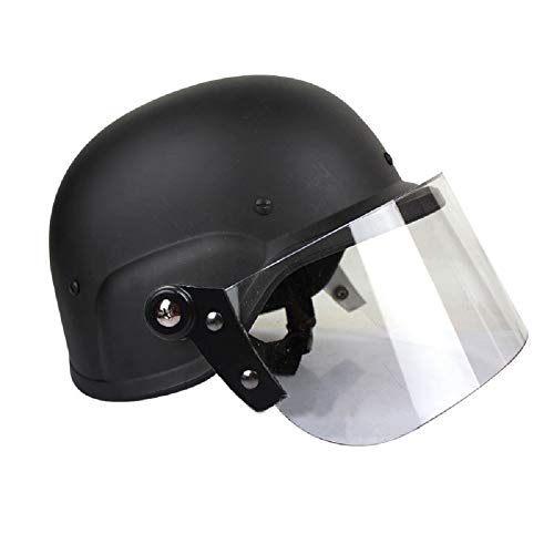 Gocher Casco táctico SWAT M88 USMC Casco Airsoft Shooting CS Classic Protector de Paintball Casco con PC Gafas Protectoras-BK
