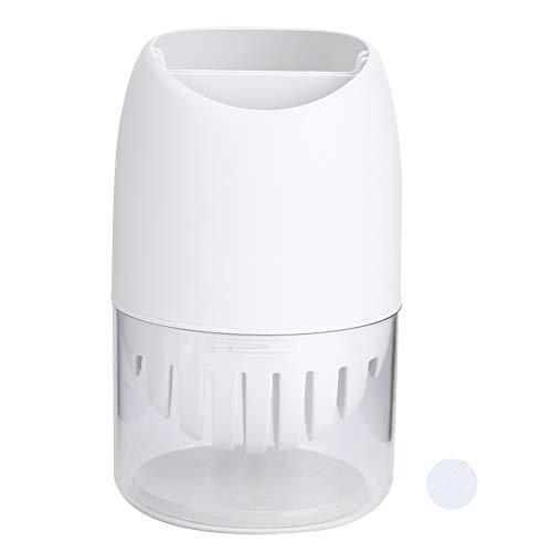 Caja de Palillos adecuados, Almohadilla de Lodo diatomada Hecha de PP y Orificios de Drenaje de Lodo Diatom (Blanco)