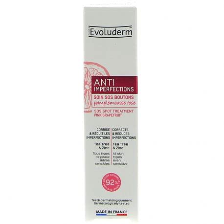 Evoluderm - Soin SOS Boutons Anti-Imperfections - 15 ml - Fabrication Française