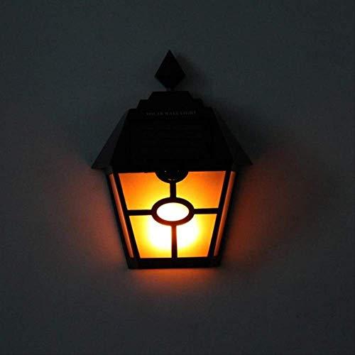 2 Stück Retro Hex Hex Solar Flame Lampe Led Lichtsteuerung Kunststoff Wasserdichte Scheibe Innenhof Zaun Garten Landschaft Außen Wandleuchte Australien
