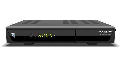 Sky Vision 2000 HD Digitaler Satelliten Receiver mit Twin Tuner (HDTV, DVB-S2, HDMI, USB 2.0, PVR-Ready, Full HD 1080p, Unicable)