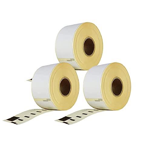 Etiquetas Dymo Labelwriter 99012 - paquete de 3 rollos de etiquetas x 260 piezas por rollo = 780 etiquetas, autoadhesivas, compatibles con impresoras de etiquetas Dymo Labelwriter & Seiko, 89 X 36 mm