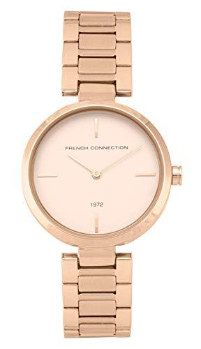French Connection Quarz Uhr mit Edelstahl Armband FC138RGM