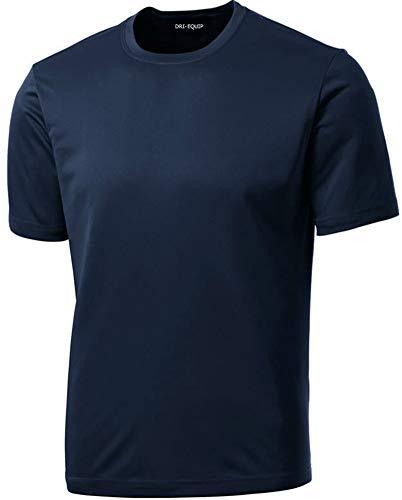 Dri-Equip Youth Athletic All Sport Training Tee Shirt,M-True Navy