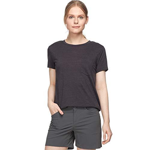 Icebreaker Nature Dye Drayden T-Shirt Col Ras-du-Cou Poche Femme, Tannin Modèle XS 2020 T-Shirt Manches Courtes