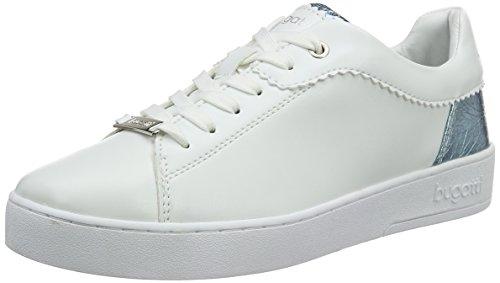 bugatti Damen J7608PR6N Sneakers, Weiß (weiß/hellblau 212), 42 EU