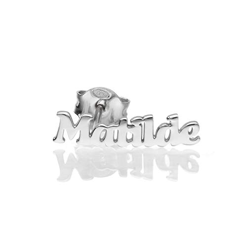 Mono orecchino in argento 925 con nome Matilde