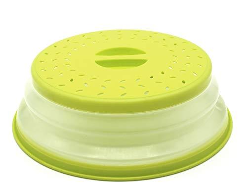 Nifogo Faltbare Mikrowellenabdeckhaube/Mikrowellenabdeckung, BAP-frei und ungiftig (Grün)
