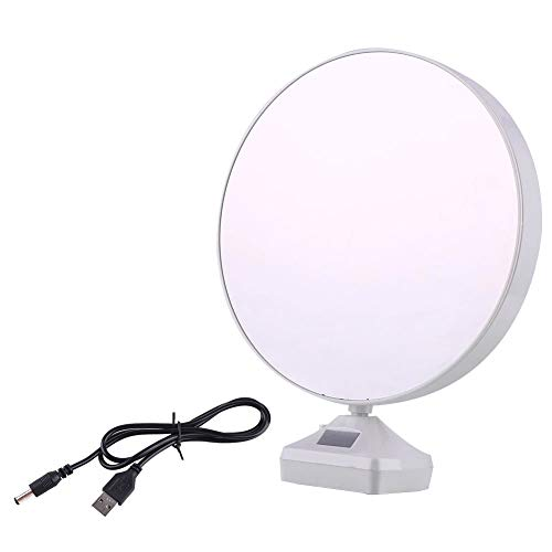 DeoDap Plastic 2 in 1 Mirror Come Photo Frame with Led Light