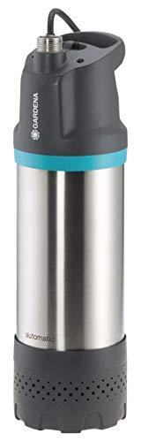 GARDENA Tauch-Druckpumpe 6100/5 inox automatic: Automatische Tauchdruckpumpe mit 6100 l/h Fördermenge, mit Schmutzfilter, geräuscharmer Betrieb, integrierte Trockenlaufsicherung (1773-20)