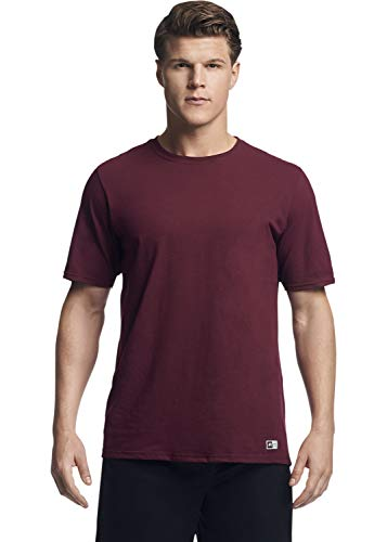 Russell Athletic mens Performance Cotton Short Sleeve T-Shirt, maroon, XL