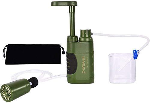 J & J Outdoor-Wasseraufbereitungs Persönliche Notfallwasserfilter tragbare Mini-Filter für Outdoor-Aktivitäten