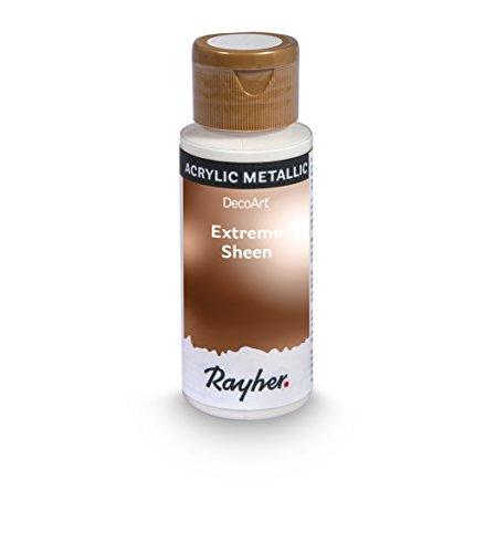 Rayher Hobby 35014665 Extreme Sheen Metallic-Farbe, antique bronze, Flasche 59 ml, Acrylfarbe metallic, patentierte Rezeptur