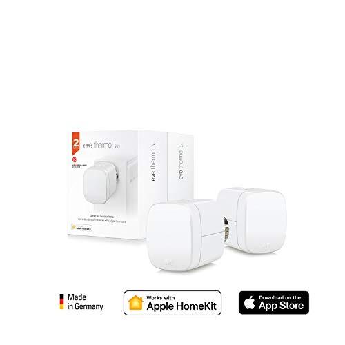 Eve Thermo (x2 Pack) - Vanne de radiateur thermostatique, contrôle automatique de...