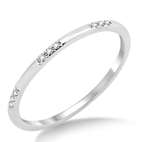Miore Damen-Ring Memoire 375 Weißgold mit Brillanten 0,05ct MP9015RR