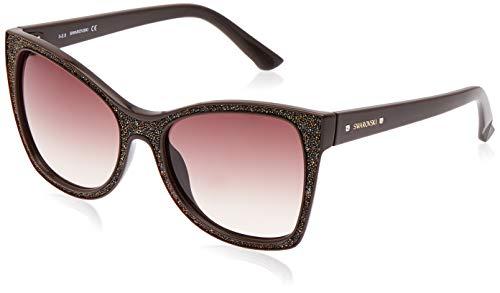 Swarovski Sunglasses Sk0109 48F 56 Occhiali da Sole, Marrone (Braun), Donna