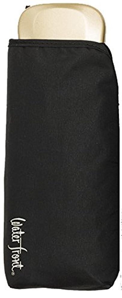 アパル付けるストレージwaterfront(ウォーターフロント) ブラック 52cm Newモバイルフラット 6本骨 UVカット 90%以上 NMF552UH-BK