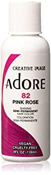 Adore Semi-Permanent Haircolor #082 Pink Rose 4 Ounce  118ml   6 Pack