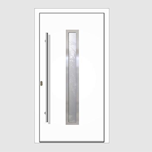 Haustür Welthaus WH75 RC2 Premiumtür Aluminium mit Kunststoff LA211 Tür 1000x2000mm DIN Links Farbe aussen weiß Innen weiß außengriff BGR1400 innendrucker M45 Zylinder 5...