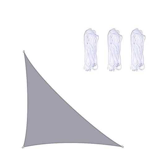 AMSXNOO Vela De Sombra, Waterbestendig 98% UV-Blokkering Winddicht Toldo, Driehoekig Toldos Exterior voor Buitenshuis Kas Camping Achtertuin Prieel Balkon Patio (Color : Gray, Size : 2X2X2M)