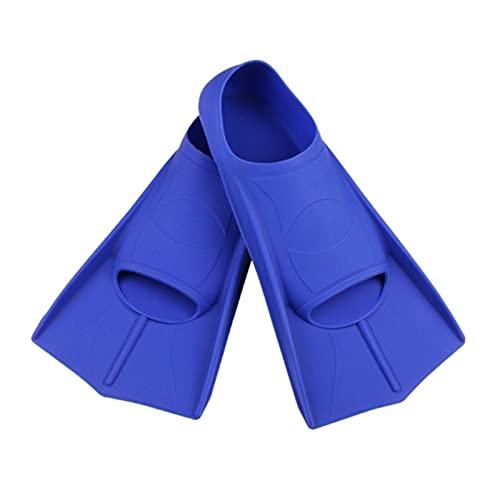 WangQianNan Aletas de Snorkel Aletas de Buceo para Adultos, niños, Hombres y Mujeres, Aletas de Entrenamiento de natación de Snorkel para bucear y Nadar (Color : -BL-M)