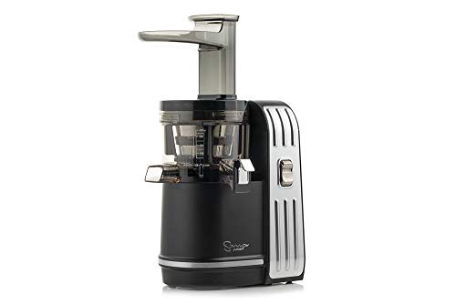 Sana Juicer EUJ-828 in Matt-Schwarz - Vertikaler Slow Juicer