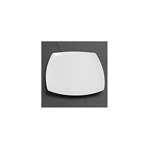 Fimel Piatti Piani Serie Saturnia Tokio in Confezione da 6 pzin Porcellana Bianca, br/Dimensioni 26x26 cm, Made in Italy V