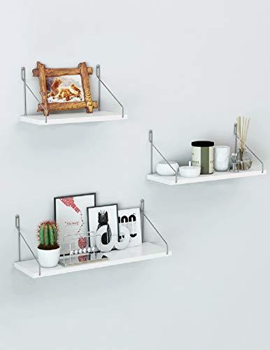 Tablette Étagère murale, décoration murale tv, cadre en bois, étagère murale salon, noir et blanc, multi-fonctionnelle en option Boîte de rangement (taille : White 30+40+50)