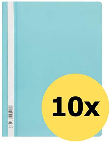 ELBA Schnellhefter A4, aus Kunststoff, türkis, 10er Pack