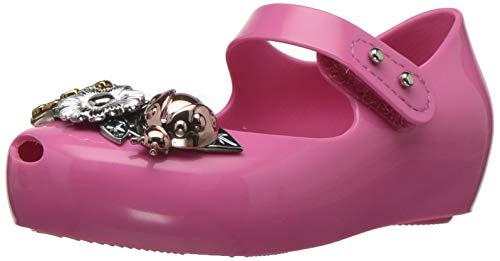 mini melissa Girls' Mini Ultragirl X Mary Jane Flat, Pink Flush, 5 Medium US Toddler