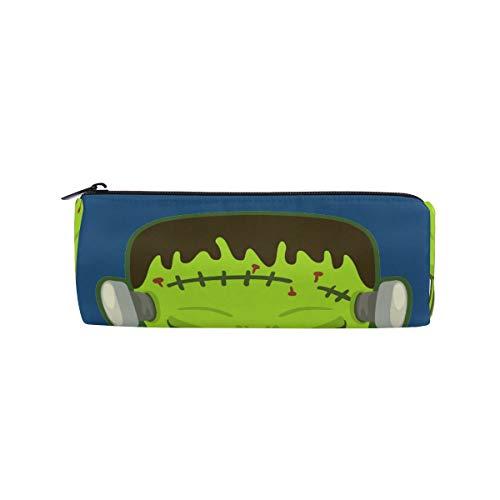 BONIPE grappige Cartoon Halloween Frankenstein masker potlood zak zak school briefpapier Pen Box Rits cosmetische make-up tas
