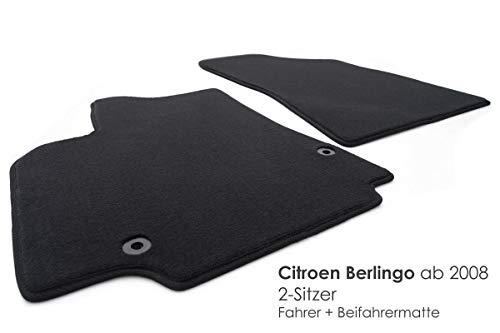 Tapis de sol pour Citroen Berlingo (à partir de 2008) original qualité velours, 2pièces avant