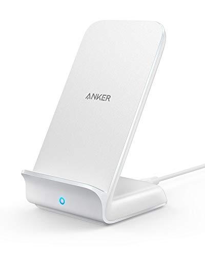 Anker Cargador inalámbrico rápido, Soporte de Carga inalámbrico rápido 7.5W / 10W / 5W para iPhone, Samsung para iPhone XR/XS MAX/XS/X / 8, Galaxy S9/ S9 + / S8(Adaptador de CA no Incluido)