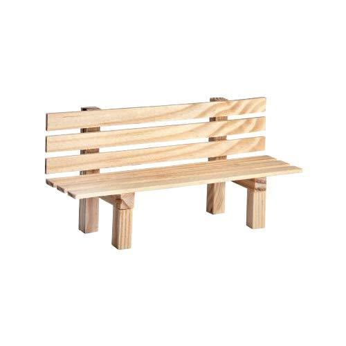 Miniatur Gartenbank aus Holz 9x3x4,5cm Dekoration Modelbau Landschaft Puppen natur Bank