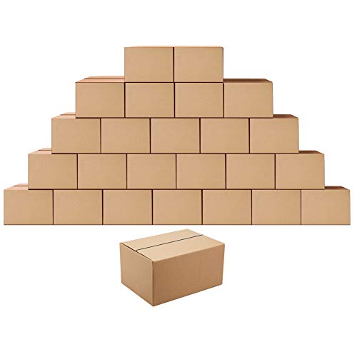 Shipping Boxes Mailers 8x6x4 inches Corrugated Cardboard Small Packing Kraft Moving Mailing Box, Pack of 25