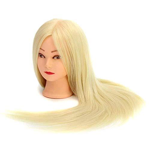 """MARGUERAS Tête à coiffer Professionnelle 24"""" Super Long Cheveux Coiffure Femme Mannequin+ Support"""