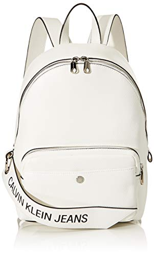Calvin Klein Damen Ckj Banner Cp Backpack 35 Rucksack, Weiß (Bright White), 0.1x0.1x0.1 centimeters