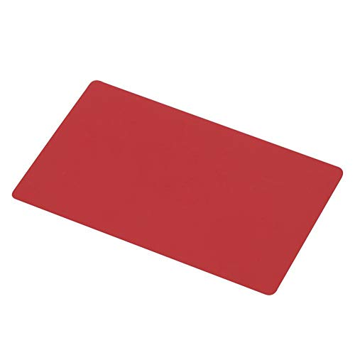 HERCHR Tarjetas de Visita Rojo, Metal Tarjetas de Visita de Tarjetas de Metal en Blanco Grabado de aleación de Aluminio para Clientes DIY Tarjetas de Regalo 8.6x5.4cm