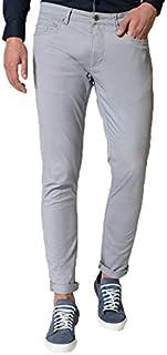 40f8aa05009ae1 Guy Pantaloni da Uomo in Cotone Elasticizzati Estivi Slim Fit Modello Jeans  Grigio Verde Blu Taglie