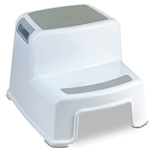 Healthy Toilet Pro - Zweistufiger Tritthocker 36x33x26cm weiß