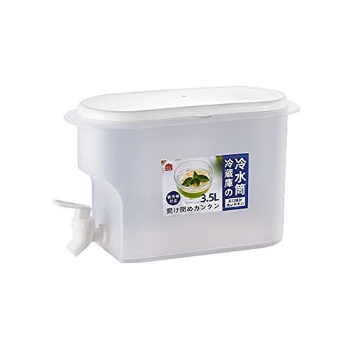 3.5L Dispensador de Bebidas Bebidas frías Cubo de Jugo Cubierta de Gran Capacidad Hielo Agua de Hielo Tetera de Fruta para Jugo de limón Té Helado Café de Vino para Fiestas al Aire Libre y Uso Diario
