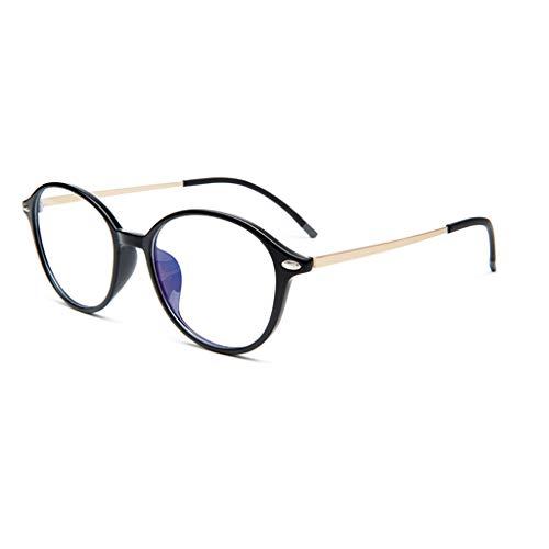 Dual-Use Intelligent Zoom leesbril, mannelijke ronde montuur leesbril, vrouwelijk, automatische instelling Degree (kleur: Black3, maat: 2.0x)